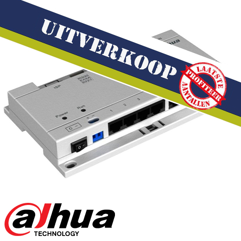 Dahua IP Video Intercom PoE switch (excl. voeding !)